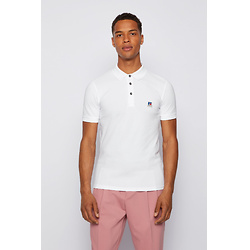 Slim-fit knitted unisex polo shirt