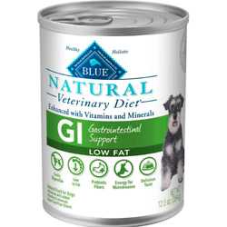 BLUE Natural Veterinary Diet GI Gastrointestinal Support Low Fat Wet Dog Food