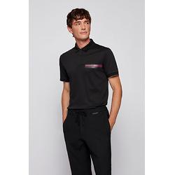 Slim-fit polo shirt in organic-cotton interlock