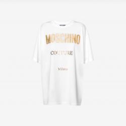 金色徽标针织T恤