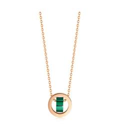 18K Red Gold Malachite Necklace