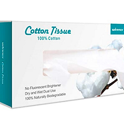 Winner wet and dry cotton facial tissue