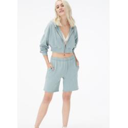 Baggy High-Rise Fold-Over Fleece Shorts