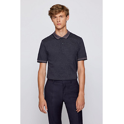 Organic-cotton slim-fit polo shirt with contrast details