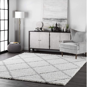 nuLOOM 室内短绒装饰地毯, 4' x 6'