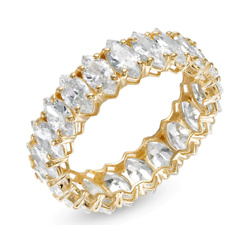 Marquise Cubic Zirconia Eternity Band in 10K Gold - Size 7
