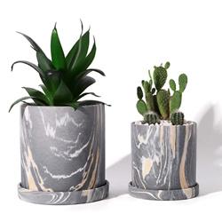 POTEY Ceramic Flower Plants Pots Planter