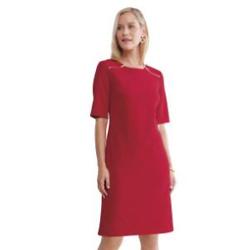 Zipper-Detail Crepe Dress