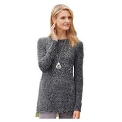 Boucle Scarf Sweater Set