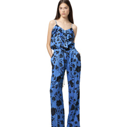 Relaxed-fit wide-leg pants with collection-themed print