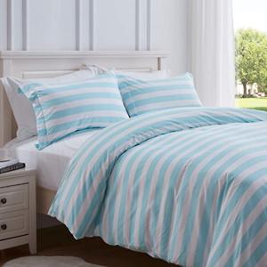 SunStyle Home 100% Microfiber Stripe Duvet Cover