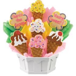 Ice Cream Cones Cookie Bouquet (Medium)
