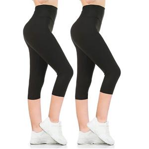 Gnpolo 女士黑色高腰紧身瑜伽裤 2条装
