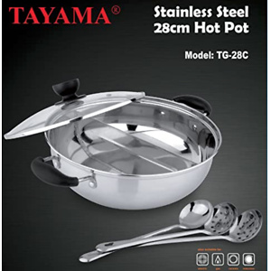 Tayama 不锈钢火锅带分格层