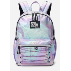Iridescent Crisscross Bungee Cord Backpack