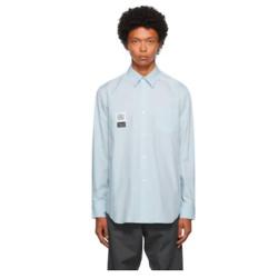 FUMITO GANRYU Blue Pleated Shirt
