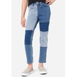 Patchwork Mini Mom Jeans