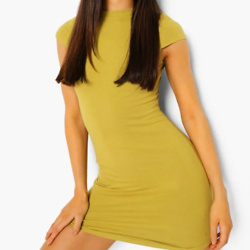 High Neck Bodycon Mini Dress