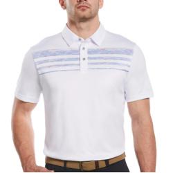 男士太空染色胸条纹Polo衫