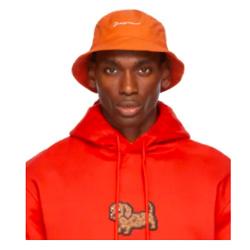 JACQUEMUS Orange La Montagne 'Le Bob Picchu' Bucket Hat