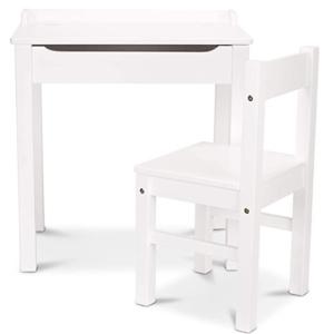 Melissa & Doug Wooden Lift-Top Desk & Chair (White)