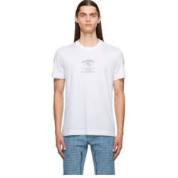 GIVENCHY White Slim Fit Crest T-Shirt