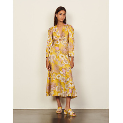 Long Silk Printed Dress