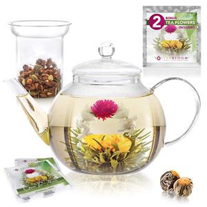 Teabloom 大容量玻璃茶滤茶壶 40oz