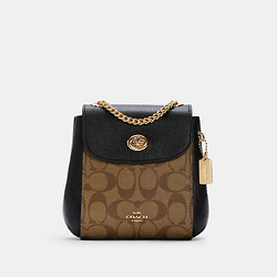 COACH Convertible Mini Backpack In Signature Canvas