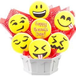 Sweet Emojis Boss Day Cookie Bouquet(Medium)