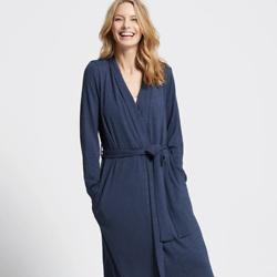 Slub Knit Midi Robe