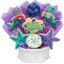 Majestic Mermaids Cookie Bouquet(Medium)