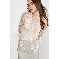 Edwarda White Lace Shirt