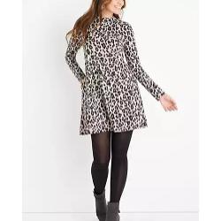 24/7 Leopard Mock Neck Mini Dress