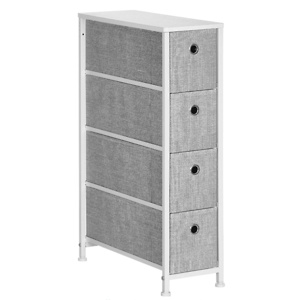 SONGMICS Narrow Dresser with 4 Fabric Drawers