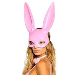 粉红兔子面具服装配饰