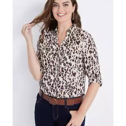 Winona Button Down Leopard Blouse