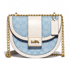 Coach Alie Saddle Bag in Signature Chambray