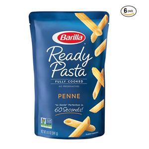 BARILLA Ready Pasta, Penne Non-GMO, Pack of 6