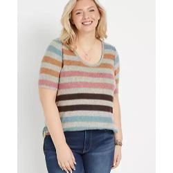 Plus Size 24/7 Multi Stripe Flawless Tunic Tee
