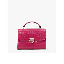lovitt croc-embossed small top-handle bag