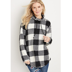 Lodge Black Plaid Sherpa Sweatshirt