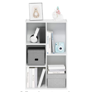 Furinno 5-Cube Open Shelf, White