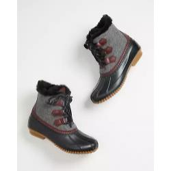 Winnie Black Felt Duck Boot