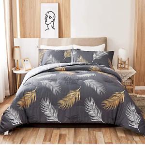 Wkrevs Comforter Set Queen Size 3 Pieces Bedding Set
