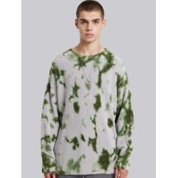 Cotton Pull-Over in Green & Grey