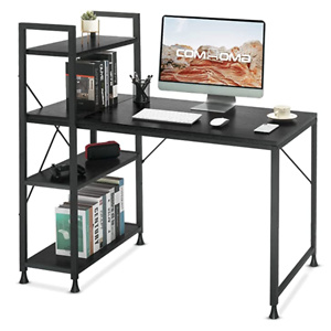 Comhoma Computer Desk with Storage Shelves 47 Inch