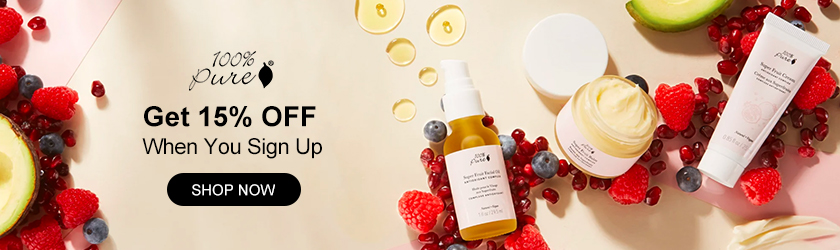 100% Pure: Get 15% OFF when You Sign Up