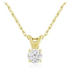 1/6ct 14k Yellow Gold Diamond Pendant