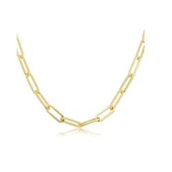 2.5mm Paperclip Chain Necklace, 30 Inches